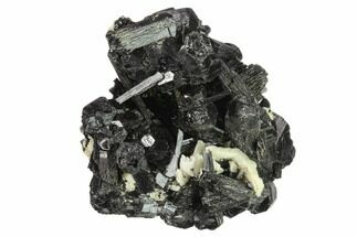 "Buy 2.9"" Black Tourmaline (Schorl) Crystals with Orthoclase - Namibia - #132229"