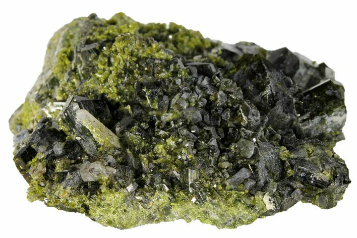 "2.7"" Epidote Crystal Cluster with Quartz - Peru"