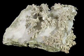 "Buy 2.1"" Native Silver Formation in Etched Calcite - Morocco - #132418"
