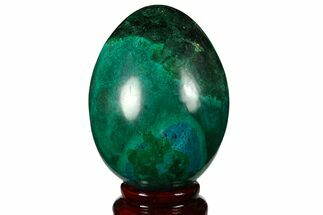 "Buy 3.1"" Polished Chrysocolla & Malachite Egg - Peru - #133804"