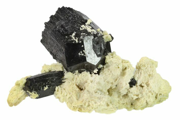 "4.5"" Black Tourmaline (Schorl) Crystals with Orthoclase - Namibia"