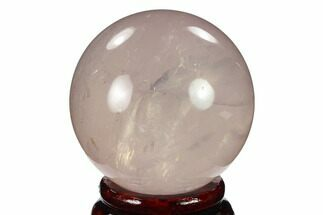 "2.1"" Polished Rose Quartz Sphere - Madagascar For Sale, #133802"