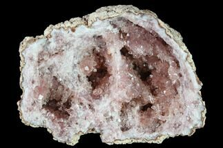 "2.5"" Pink Amethyst Geode Section - Argentina For Sale, #134774"