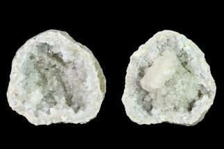 "2.1"" Quartz and Calcite Keokuk Geode Pair - Illinois For Sale, #135014"