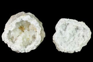 "3.3"" Quartz and Calcite Keokuk Geode Pair - Illinois For Sale, #135662"