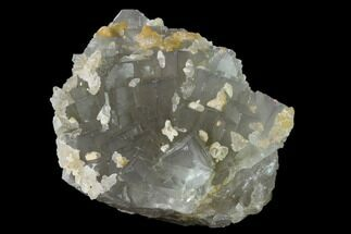"Buy 4.7"" Green Cubic Fluorite Crystals with Calcite - Pakistan - #136954"