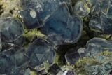 "2.1"" Blue Cubic Fluorite Crystal Cluster - China - #137642-2"