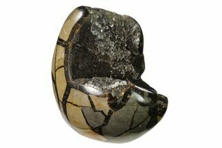 "4.7"" Polished Septarian Geode Sculpture - Barite Crystals For Sale, #137933"