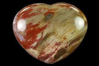"Buy 3.8"" Polished Triassic Petrified Wood Heart - Madagascar - #139978"