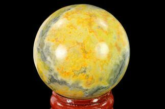 "Buy 1.7"" Polished Bumblebee Jasper Sphere - Indonesia - #139999"