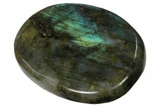 "Buy 3"" Flashy, Polished Labradorite Palm Stone - Madagascar - #142819"
