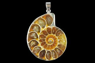 "Buy 1.65"" Fossil Ammonite Pendant - 110 Million Years Old - #142903"
