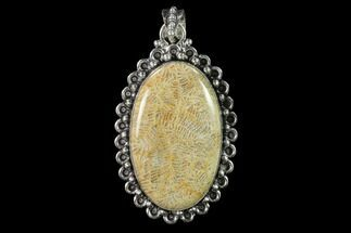 Buy 20 Million Year Old Fossil Coral Pendant - Indonesia - #143689