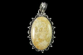 20 Million Year Old Fossil Coral Pendant - Indonesia For Sale, #143693