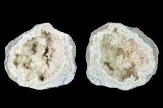 "3.2"" Scalenohedral Calcite Lined Keokuk Geode - Illinois For Sale, #144704"