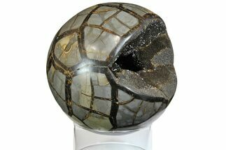 "Buy 5.6"" Polished Septarian Geode Sphere - Madagascar - #145261"