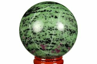 "2.15"" Polished Ruby Zoisite Sphere - Tanzania For Sale, #146015"