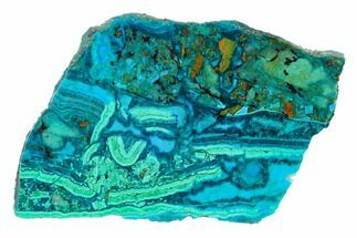 "4.5"" Polished Chrysocolla and Malachite - Bagdad Mine, Arizona For Sale, #146525"