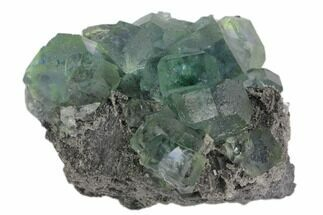 "3.3"" Green Cuboctohedral Fluorite on Sparkling Quartz - China For Sale, #147080"