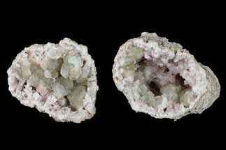"2.9"" Pink Amethyst Geode with Calcite - Argentina For Sale, #147935"