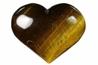 "3.2"" Polished Tiger's Eye Heart For Sale, #148739"