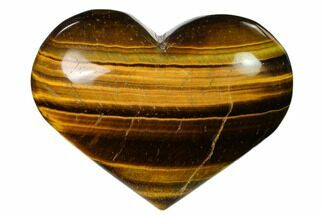 "Buy 3.1"" Polished Tiger's Eye Heart - #148741"
