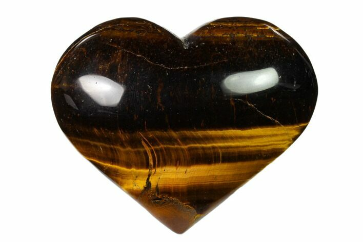 "2.8"" Polished Tiger's Eye Heart"
