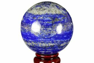 "3.1"" Polished Lapis Lazuli Sphere - Pakistan For Sale, #149366"