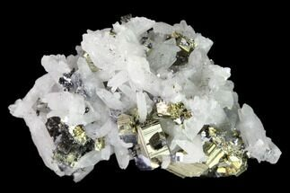 Quartz, Galena & Pyrite - Fossils For Sale - #149571