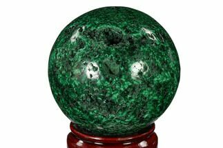 "Buy 2.95"" Flowery, Polished Malachite Sphere - Congo - #150313"