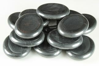 "1.8"" Shiny, Polished Hematite Worry Stones For Sale, #150407"