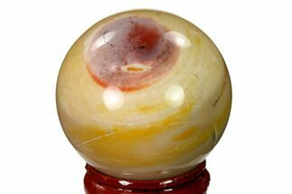 "1.6"" Polished Mookaite Jasper Sphere - Australia For Sale, #150266"
