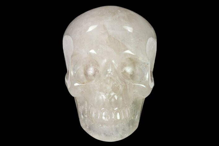 "3"" Realistic, Polished Brazilian Quartz Crystal Skull"