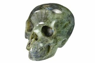 "3"" Realistic, Polished Labradorite Skull - Madagascar For Sale, #151055"