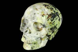 "Buy 3"" Realistic, Polished ""Yellow Turquoise"" Jasper Skull - Magnetic - #151108"