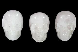 "2"" Polished Rose Quartz Skulls - Brazil For Sale, #151376"