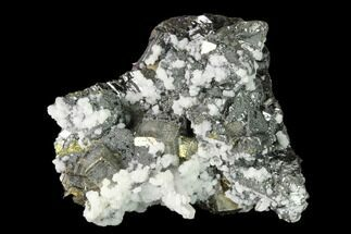 "1.9"" Pyrite, Sphalerite, Calcite and Quartz Association - Peru For Sale, #149705"