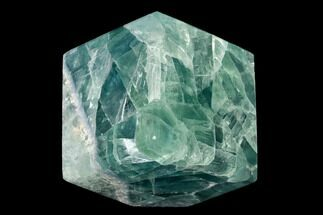 "Buy 2.4"" Polished Green Fluorite Cube - Mexico - #153388"