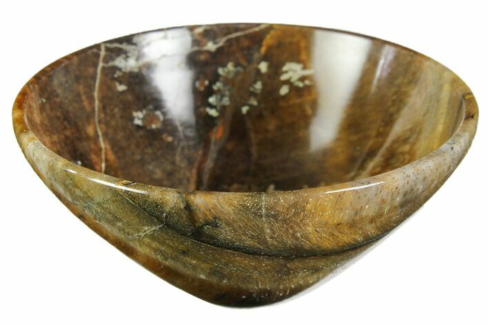 "2.9"" Polished Tiger's Eye Bowl"