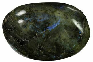 "Buy 3.8"" Flashy, Polished Labradorite Palm Stone - Madagascar - #155710"