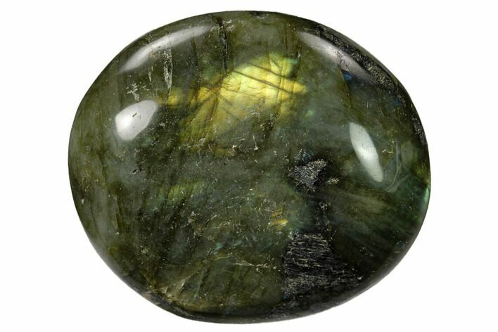 "2.35"" Flashy, Polished Labradorite Palm Stone - Madagascar"
