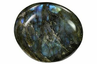 "Buy 2.85"" Flashy, Polished Labradorite Palm Stone - Madagascar - #155707"
