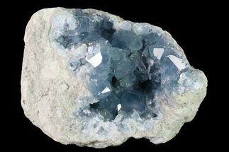 "8.5"" Sky Blue Celestine (Celestite) Geode (12.8 Lbs) - Madagascar For Sale, #156515"