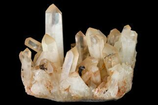 "6"" Tangerine Quartz Crystal Cluster - Madagascar For Sale, #156938"