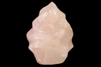 "7.2"" Tall, Polished Rose Quartz Flame Sculpture - Madagascar For Sale, #156494"