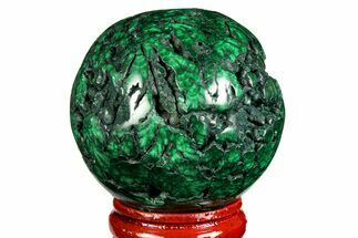 "Buy 1.75"" Flowery, Polished Malachite Sphere - Congo - #157267"