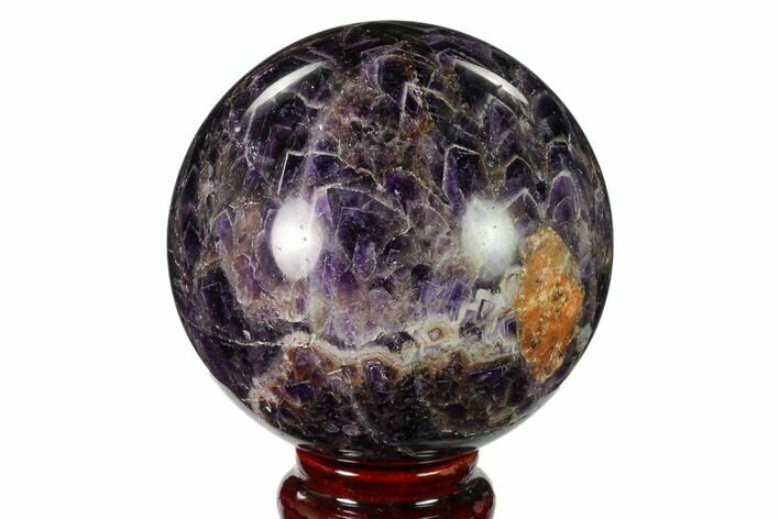 "3.1"" Polished Chevron Amethyst Sphere - Morocco"