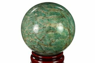 "3.35"" Polished Graphic Amazonite Sphere - Madagascar For Sale, #157691"