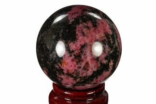 Rhodonite with Manganese Oxide - Fossils For Sale - #157974