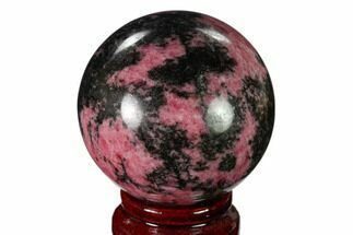 Rhodonite with Manganese Oxide - Fossils For Sale - #157983